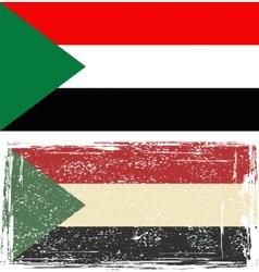 Sudan grunge flag vector