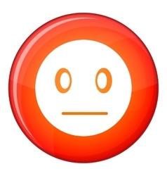 Suspicious emoticon flat style vector image vector image