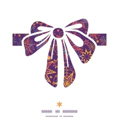 Textured christmas stars gift bow silhouette vector