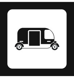 Tuk tuk taxi icon simple style vector