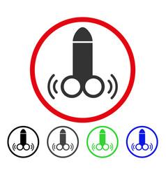 Vibro dildo rounded icon vector