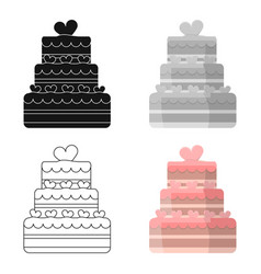 Wedding cake icon of for web vector