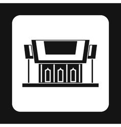 Temple icon simple style vector