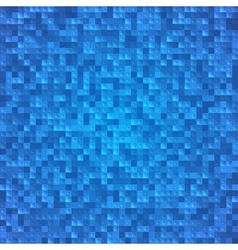 Abstract blue pixel mosaic seamless background vector image