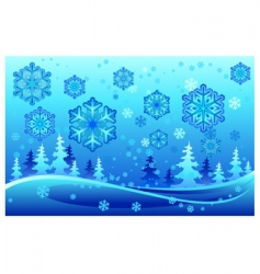 Snow forest vector