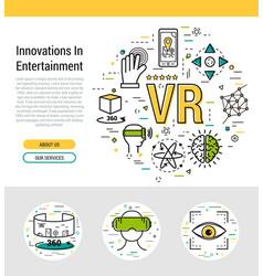 Header template - virtual reality vector
