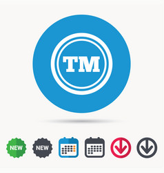 Registered tm trademark icon intellectual work vector