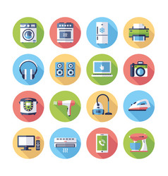 Home appliances - modern flat design icons vector