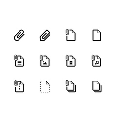 File clip icons on white background vector