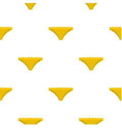 Yellow panties with frill pattern seamless vector