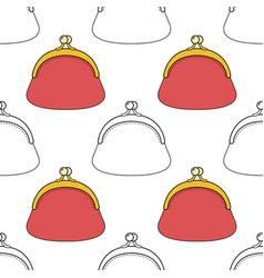 Fashion bags seamless pattern for vector