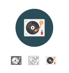 Disk jockey turntable icon vector