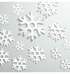 Abstract paper snowflake background vector image