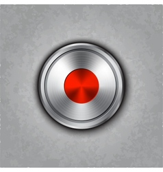 Round metal record knob vector