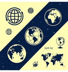 Set of land vector image