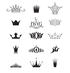 Modern crowns vector image