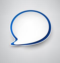 Paper white-blue speech bubble vector