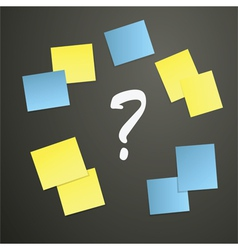 Sticky notes with question mark vector