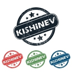 Round kishinev city stamp set vector