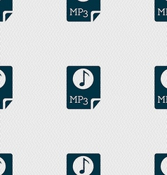 Audio mp3 file icon sign seamless abstract vector