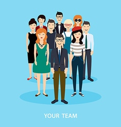 Business team teamwork social network and social vector