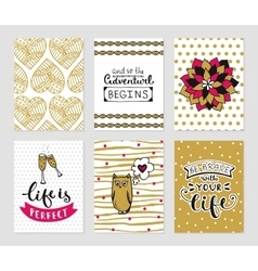 Grunge cards collection vector