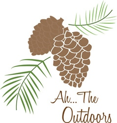 The outdoors vector