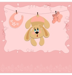 Baby greetings card vector