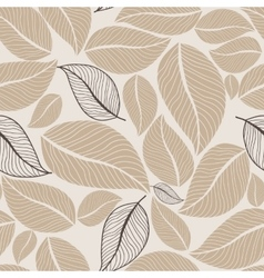 Leaves flowers seamless pattern background vector