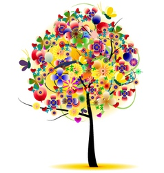 Beauty summer tree abstract vector