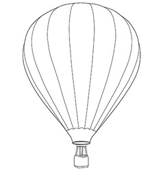 Air balloon outline drawing vector
