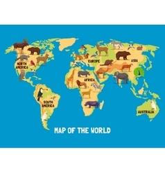 Animals World Map vector image