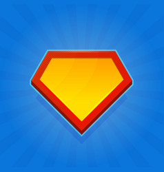 Blank superhero logo icon on blue background vector
