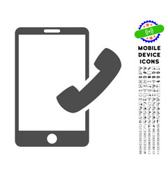 Call smartphone icon with set vector