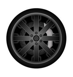 car metal rim icon vector image vector image