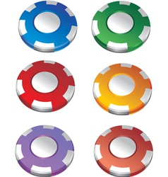 Color casino chips vector image