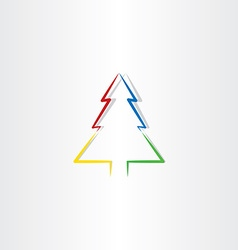 colorful christmas tree icon design symbol vector image vector image