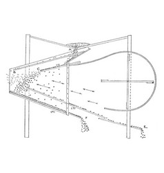 Diagram of a fanning mill vintage vector