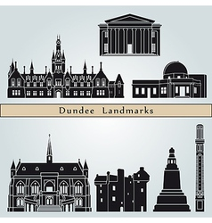 Dundee landmarks and monuments vector image