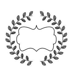 Elegant beautiful frame isolated icon vector
