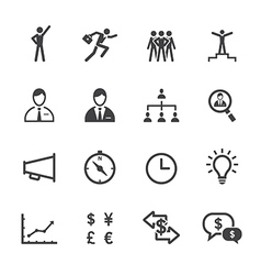 Finance and Human Resource Icons vector image vector image