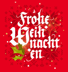 frohe weihnachten christmas card vector image vector image