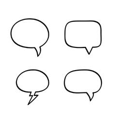 Hand-drawn speech bubbles vector image