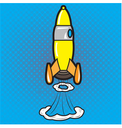 isolated rocket toy vector image