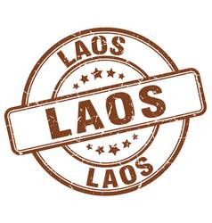Laos stamp vector