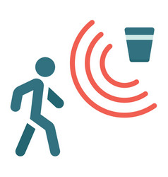 Motion detector flat icon security and guard vector