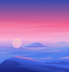 Sea Sunset Landscape vector image