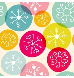 seamless snowflakes christmass pattern vector image vector image