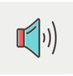 Speaker volume thin line icon vector image vector image