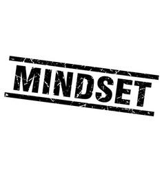 Square grunge black mindset stamp vector